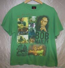 Rare 2010 ZION ROOTSWEAR BOB MARLEY Trenchtown Rock Reggae Green T-shirt Sz L