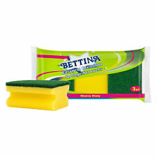 Bettina Easygrip Premium Sponge Scourers 3 Pack Heavy Duty Dish Kitchen Cleaning