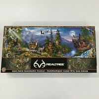 """Once-Used RealTree 1000 Piece Panoramic Jigsaw Puzzle 39"""" x 13"""" *All Pieces*"""
