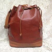 Louis Vuitton Brown Epi Leather Noe Draw String Shoulder Bag 16inx13inx7in