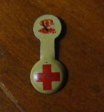 Vintage Metal Red Cross Nurse Lapel Pocket Pin Badge Junior Red Cross