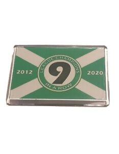 Champions 9 in a row Fridge Magnet - Flag Design for Celtic Fans