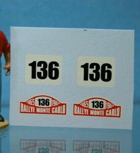 ** DEC294 - Corgi Toys 321- Décal pour Rover 2000 Monté Carlo N°136