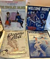 Lot of WWI Patriotic Sheet Music Pictorial Covers