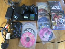 Sony Playstation 2 PS2 Slimline console dualshock controllers all leads 14 games