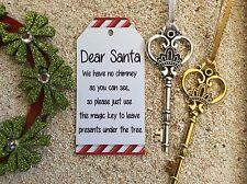 Santa Magic Key Christmas Ornament Christmas Eve Door Chimney
