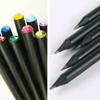 Wood HB Pencil With Colorful Diamond School Writing Pencils X4C7