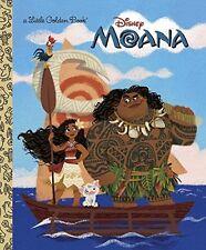 Disney Moana Little Golden Book Hardcover 2016 Kids Story New Free Shipping