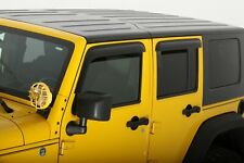AVS Smoked Tape On Vent Visor Rain Guards for 07-18 Jeep Wrangler JK 4 Door