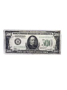 New York 1934A $500 Five Hundred Dollar Bill  Fr.2202B B00268604A