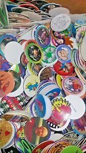 75 Pog Milk Caps Lot Mix Retro 1990s Wholesale Toys Game Deal SALE CLEARANCE