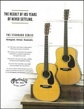 Martin Standard 00-28 & HD-28 acoustic guitar ad 185th anniversary advertisement