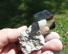 INCREDIBLE DISPLAY__LARGE Lusterous Pyrite Cubes on Matrix__Navajun Mine , Spain