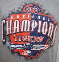 Auburn Tigers Football 2010 National Champions Gray T Shirt Sz Small War Eagle