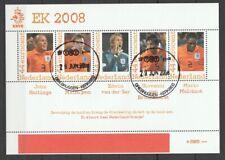 Nederland NVPH 2562 E2 Vel Persoonlijke zegels Voetbal EK 2008 Gestempeld