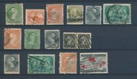 CANADA : Lot of 15 very old Stamps . Good used stamps High CV$420 A2053