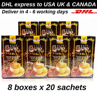 8 x Gano Excel Cafe 3 in 1 Coffee Ganoderma lucidum extract Relieve Stress Free
