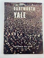 Vintage Dartmouth vs Yale Football Program Oct. 29, 1955 NCAA Ivy League College