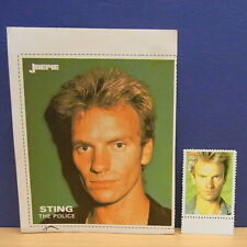 2x Sticker - Decal - stamp Joepie - Popfoto / Sting  org.back 80's (1311)