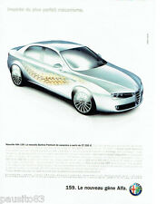 PUBLICITE ADVERTISING 046  2005  Alfa Romeo  Alfa 159 Berline Premium