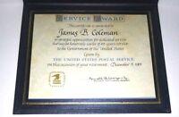 Vintage 1981 USPS 25 year Employee Service Award Certificate Document Retirement