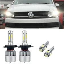 VW Caravelle MK3 55w Super White Xenon HID High//Low//Side Headlight Bulbs Set