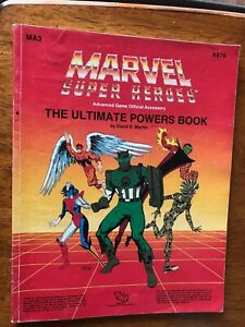 Marvel Super heroes 6876 MA3 Ultimate powers book 1987 TSR