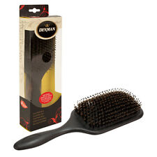 Denman Large Cushioned Paddle Hair Brush Boar with Nylon Quill Bristle D83P