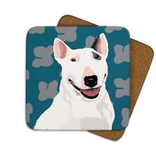 Leslie Gerry LGCOA003 Single Coaster Bull Terrier Dog