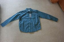New John Rocha Green Checked Shirt Age 10 long sleeve chest 28 in