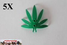 5X Lego® 30239 Palmenblatt, Blätter, Pflanzen, Plant, 6X5, Grün, Green, 4113210