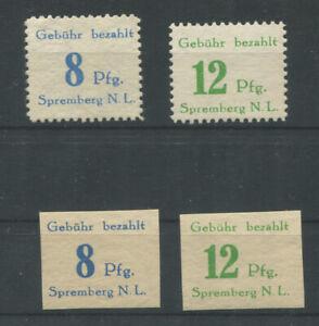 Lokal (nichtamtlich) Spremberg 23-24 A+B postfrisch (B12282)