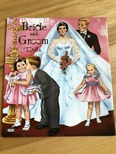 Vintage 1959 Lowe James & Jonathan Bride and Groom Paper Cutout Dolls Marriage