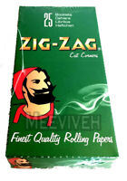 FULL BOX OF ZIG ZAG GREEN REGULAR SIZE ROLLING PAPERS - 25 PACKS ORIGINAL