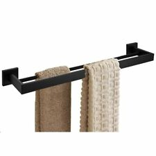 304 Stainless Steel Bathroom Square Double Towel Bar Racks Rail Holder Fashion