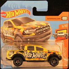 Hot Wheels '19 Ford Ranger Raptor YELLOW #185 2019 new on short card