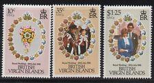 British Virgin Islands Sc#406-08 Charles & Diana Royal Wedding 1981, MNH VF