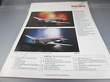 Herpa: Prospekt, 2-seitig m. Herpa Wings u.High Tech 43  (Kat2)