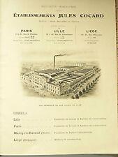 Gros Catalogue Jules Cocart Robinet Plomberie Industrielle  & Ménage   1925