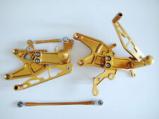 Rearset Rear Sets Footpegs Stainless Steel for Yamaha YZF R1 2004-2006 2005 Gold