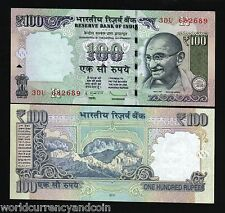 INDIA 100 RUPEES 2012 GANDHI New Symbol MOUNTAIN UNC CURRENCY MONEY BILL NOTE
