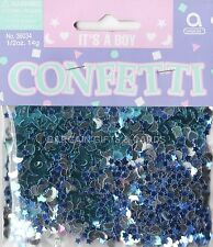 1 PACKS IT'S A BOY CONFETTI /  TABLE SPRINKLES BLUE COLOUR TABLE DECORATIONS