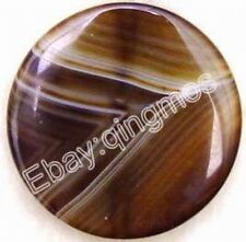 Big 40mm Gray round agate pendant-pen17
