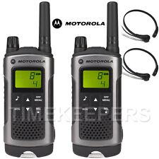 10 Km Motorola TLKR T80 Walkie Talkie Radio De Dos Vías Esquí & Go Karting Twin Pack