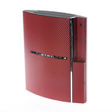 Textured Red Carbon Fibre PlayStation PS3 Fat decal skin  cover wrap