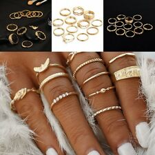 Fashion 12pc/Lot Women's Gold Color Knuckle Midi Finger Ring Jewelry Hot Sale