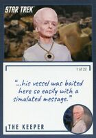 Star Trek TOS Archives & Inscriptions card #11 the Keeper Variation 1 out of 22