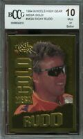 1994 wheels high gear mega gold #mg8 RICKY RUDD BGS BCCG 10