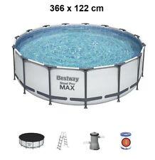 Bestway Steel Pro MAX 366 x 122 cm Pool Bestway 56420 Modell.2021 m. Zubehör