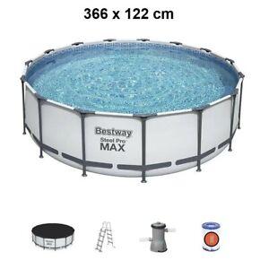 1Bestway Steel Pro MAX 366 x 122 cm Pool Bestway 56420 Modell.2021 m. Zubehör